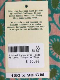 Les Touristes Paris two sided large cotton wrap