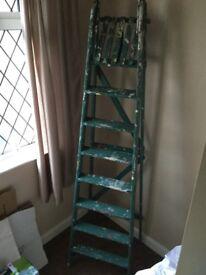 8 step wooden step ladder