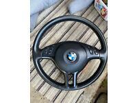 BMW e46 SE complete steering wheel