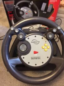 Nintendo 64 Steering Wheel with Rumble Effect and Foot Pedals