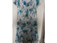 FLOWERED SKIRT AND TOP SIZE 18