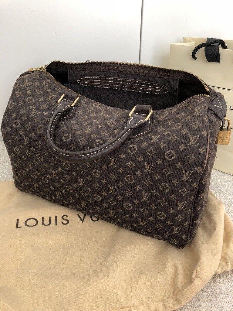 543bcd43f01d Louis Vuitton Authentic Louis Vuitton Speedy 30 Monogram Mini Lin Ebene  Dustbag