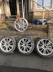 BMW 330d MV3 staggered alloys set original