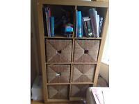 Oak coloured bookshelf