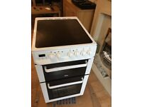zanussi ceramic free standing electric cooker seperate grill oven in vgc .free local delivery