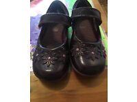 Purple clarks shoes