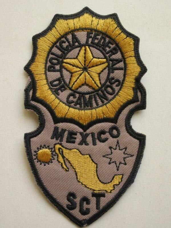 OBSOLETE MEXICO POLICIA FEDERAL DE CAMINOS HIGHWAY MEXICAN POLICE CLOTH PATCH