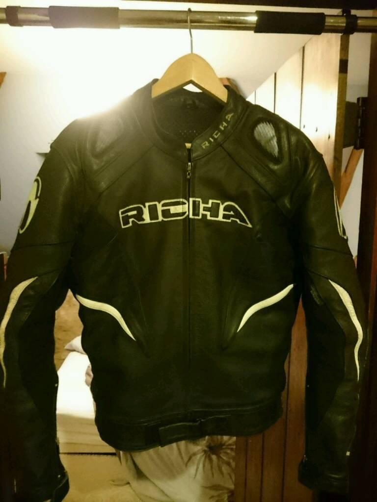 Richa leather motorbike jacket