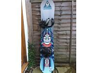Snowboard 155cm and bindings