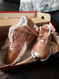 Nike air trainers size 3 brand new