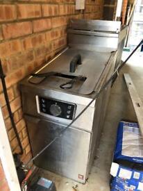 Used Falcon Infinity Twin Gas Fryer.