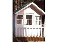 SOLD SOLD Wooden play house, trampoline and baby swing