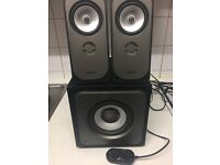 Bush S21192 2.1 Speakers And Subwoofer