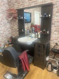 Barber unit and chair sale