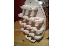 LOVELY WOODEN WALL EGG HOLDER,VERY GOOD CONDITION
