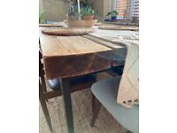 Reclaimed Industrial Dinning Table Solid wood hand made