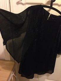 BNWT Dorothy Perkins Black Sparkly Top Size 16