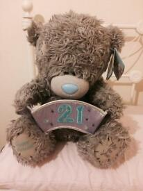21st Birthday Tatty Teddy (with tags)