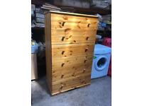Very Large Solid Pine Chest Of Drawers