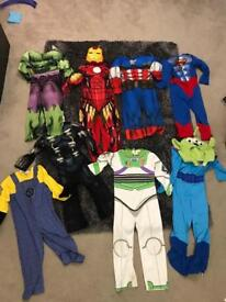 Boys dressing up costumes Marvel etc