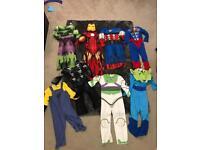 Boys dressing up costumes Marvel etc