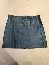 Sexy fake leather vintage skirt