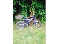 Boys bike, suitable for 3-6 yr old.