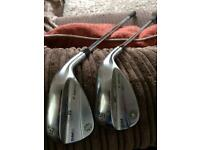 Mint Titleist Vokey SM6 52 and 58 Wedges with Wedge flex shafts