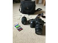 Canon EOS 20D with 2 lenses