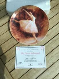 "Wedgewood Passion of Dance – The Dress Rehearsal 8"" Collector's Plate"