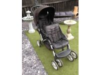 Graco Double Black Pushchair