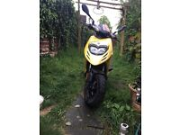 Piaggio Typhoon 50cc - 12plate; yellow; contact me for more info or photos.