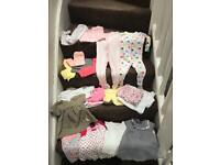 Bundle of baby girls clothes (42 items)