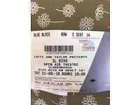 2x il divo tickets Saturday 21st July