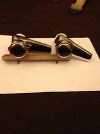 Gold Plated Basin Tap Set.