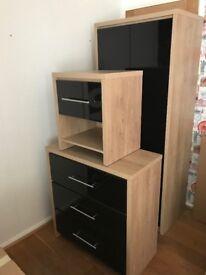 black shiny New bedroom furniture for sale