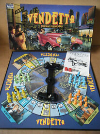 (Vendetta) Chicago in the 30's board game. By Parker Games 1988.