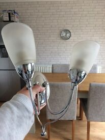 Two chrome wall lights: still sold in b&q