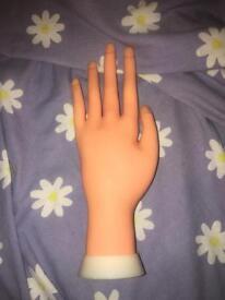 Hand to practice acrylics