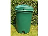 220 Litre Green Water Butt Garden Water Storage Container / Barrel