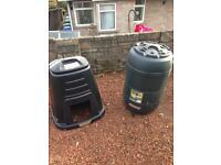 Water butt and compost bin