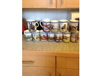 Danbury mint mugs excellent condition horse legends