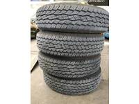 205 16c Toyo open country a/t tyres x4