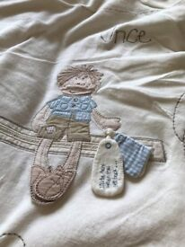 MAMAS & PAPAS COT QUILT AND TWO MATCHING BUMPERS