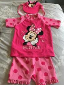 Minnie Mouse Swim Set age 4-5