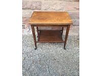 Vintage Folding Card Table/Trolley