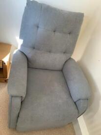 Grey self recliner armchair