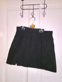 Topshop black mini skirt with slits
