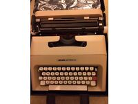 Olivetti Lettera 35 portable typewriter and case