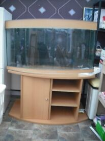 4FT BOW FRONTED FISH TANK. =AQUA MEDIC. IN GOOD CONDITION. COMES WITH EXTRAS. ( NEED THE ROOM)